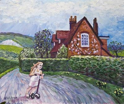 Surrey cottage in landscape