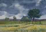 Landscape at Polesden Lacey by Richard Waldron, Painting, Watercolour on Paper