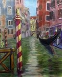 Venice Canal from Hotel Splendide by Richard Waldron, Painting