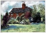 Ewekernes Farm, Capel, Surrey by Richard Waldron, Painting, Acrylic and charcoal on canvas
