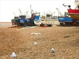 Fishing Boats at Hastings v19 by RichardWaldron-art, Photography, Kodak pro paper