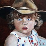 Grandad's Hat by Richard Waldron, Painting, Oil on canvas