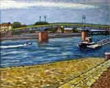 The Bridge at Arles by Richard Waldron, Painting, Oil on Board