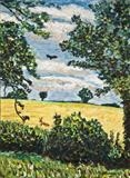 The Cornfield by Richard Waldron, Painting, Oil on canvas