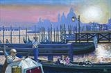 Venetian evening by Richard Waldron, Painting, Acrylic on canvas