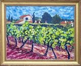 Vinyard in Graves by Richard Waldron, Painting, Oil on canvas