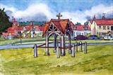 Brockham Water Pump by Richard Waldron, Painting, Pen and Wash