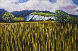 Chalk Cliff at Box Hill by Richard Waldron, Painting, Oil on Board